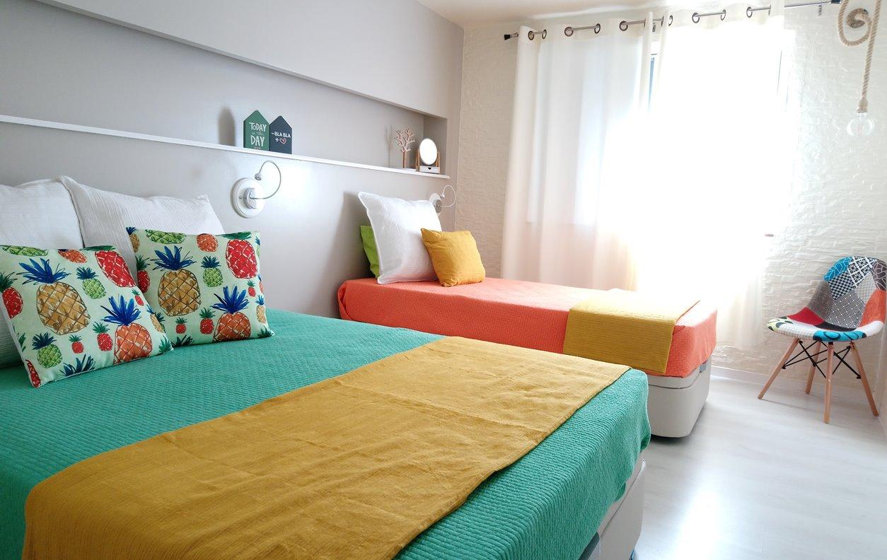Apartamento de Férias com Vista Mar, A/C, BBQ e Wi-Fi - Próximo Museu Cabouco - 12463