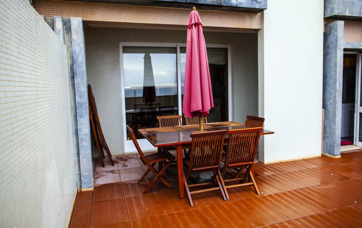 Apartamento para Férias com Vista Mar, AQ.Central, Lareira, BBQ - Próximo Praia de Lavadores - 12660