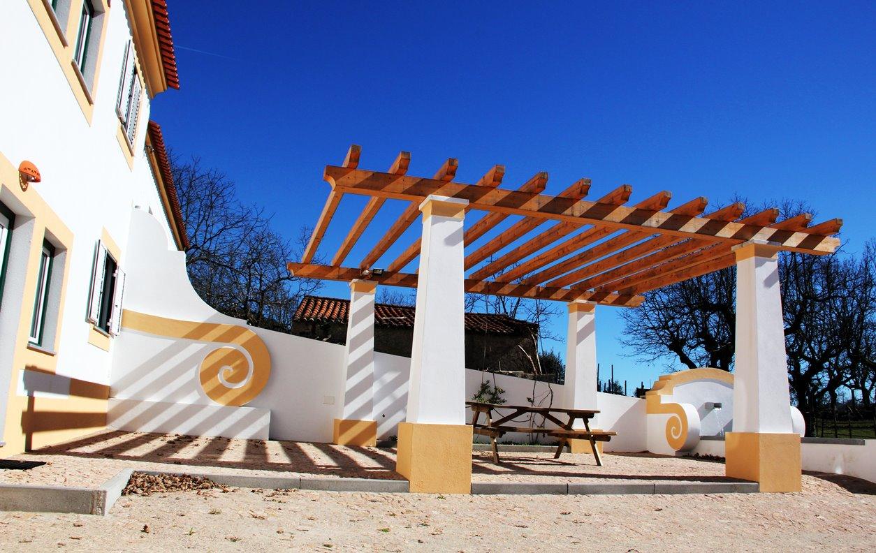 Casa de Campo com Piscina, Vista Montanha, Sustentável, A/C, BBQ e Wi-Fi - Próximo Parque de Esculturas de Marvao - 12865