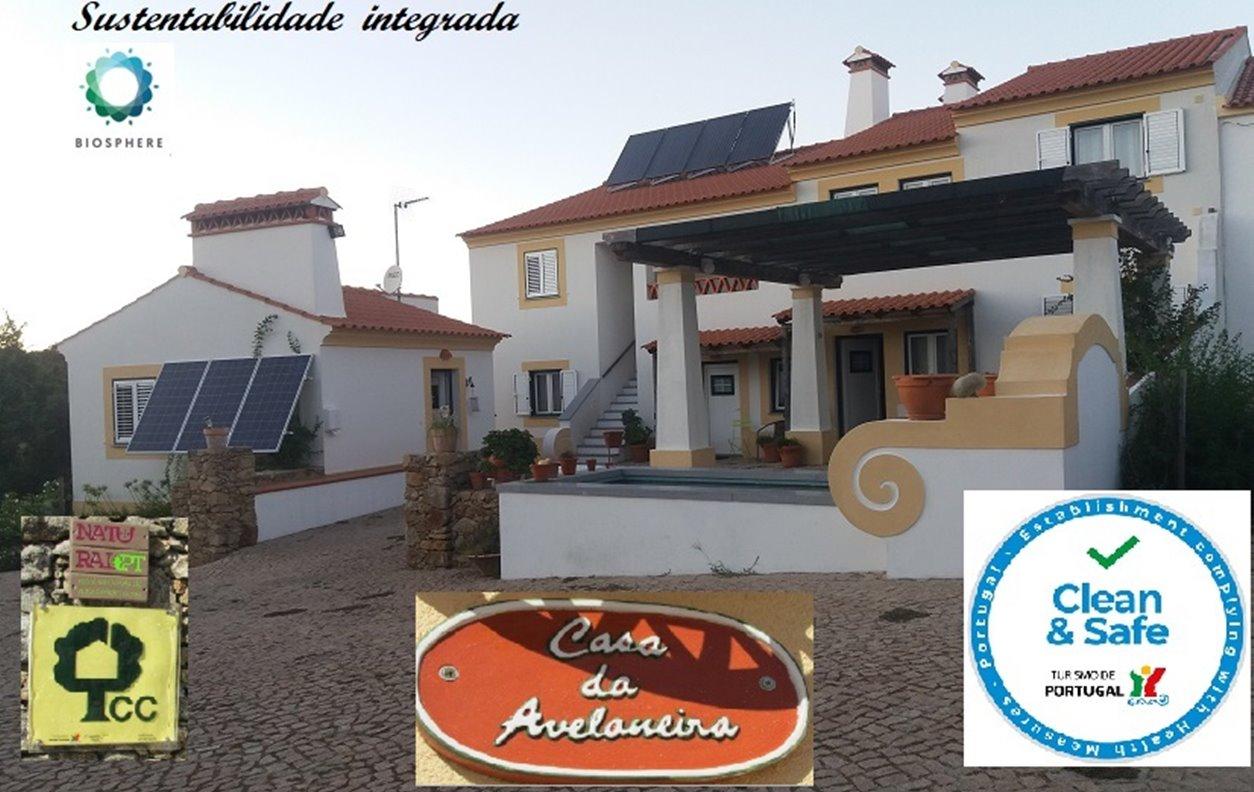 Casa de Campo com Piscina, Adap.Mob. Reduzida, Sustentável, A/C, BBQ e Wi-Fi - Próximo Parque de Esculturas de Marvao - 12867