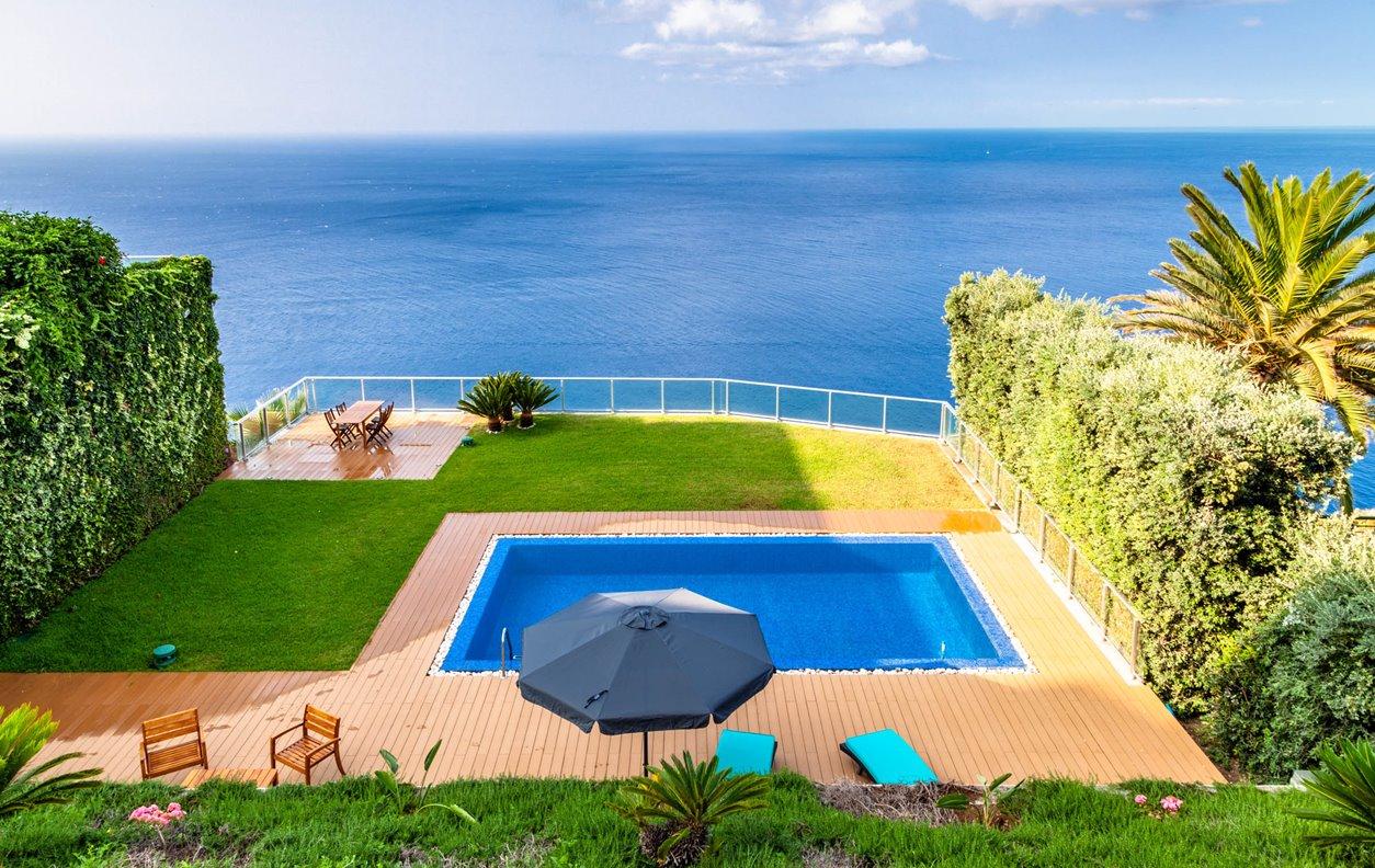Casa de Férias com  Piscina Aquecível, Vista Mar,  A/C, Jardim, BBQ e Wi-Fi - Próximo Praia dos Reis Magos - 12948