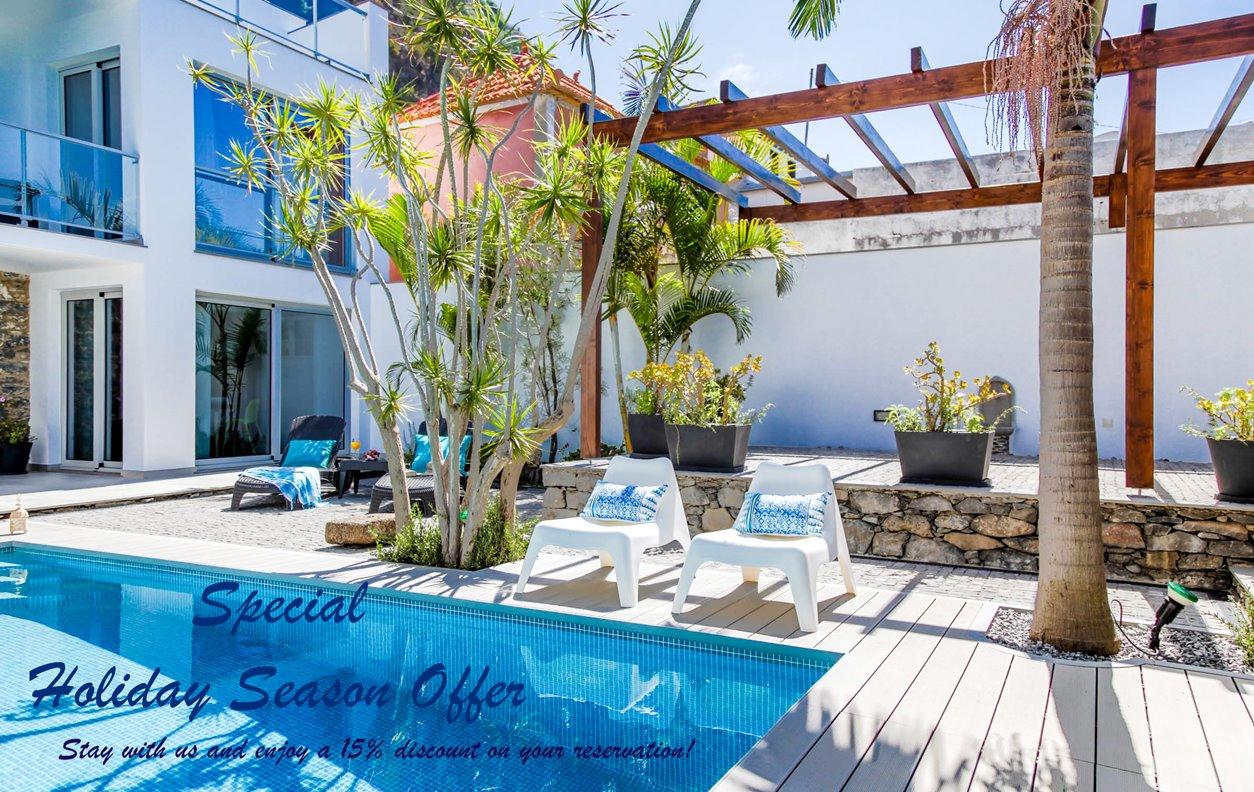 Casa de Férias com Piscina Aquecível e Jardim, Vista Mar, BBQ e Wi-Fi - Próximo da Praia - 12980
