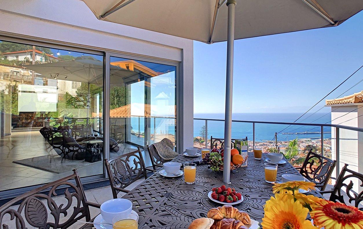 Casa de Férias com Jacuzzi privado, Vista Mar, BBQ e Wi-Fi - Próxima do Jardim Botânico - 12989