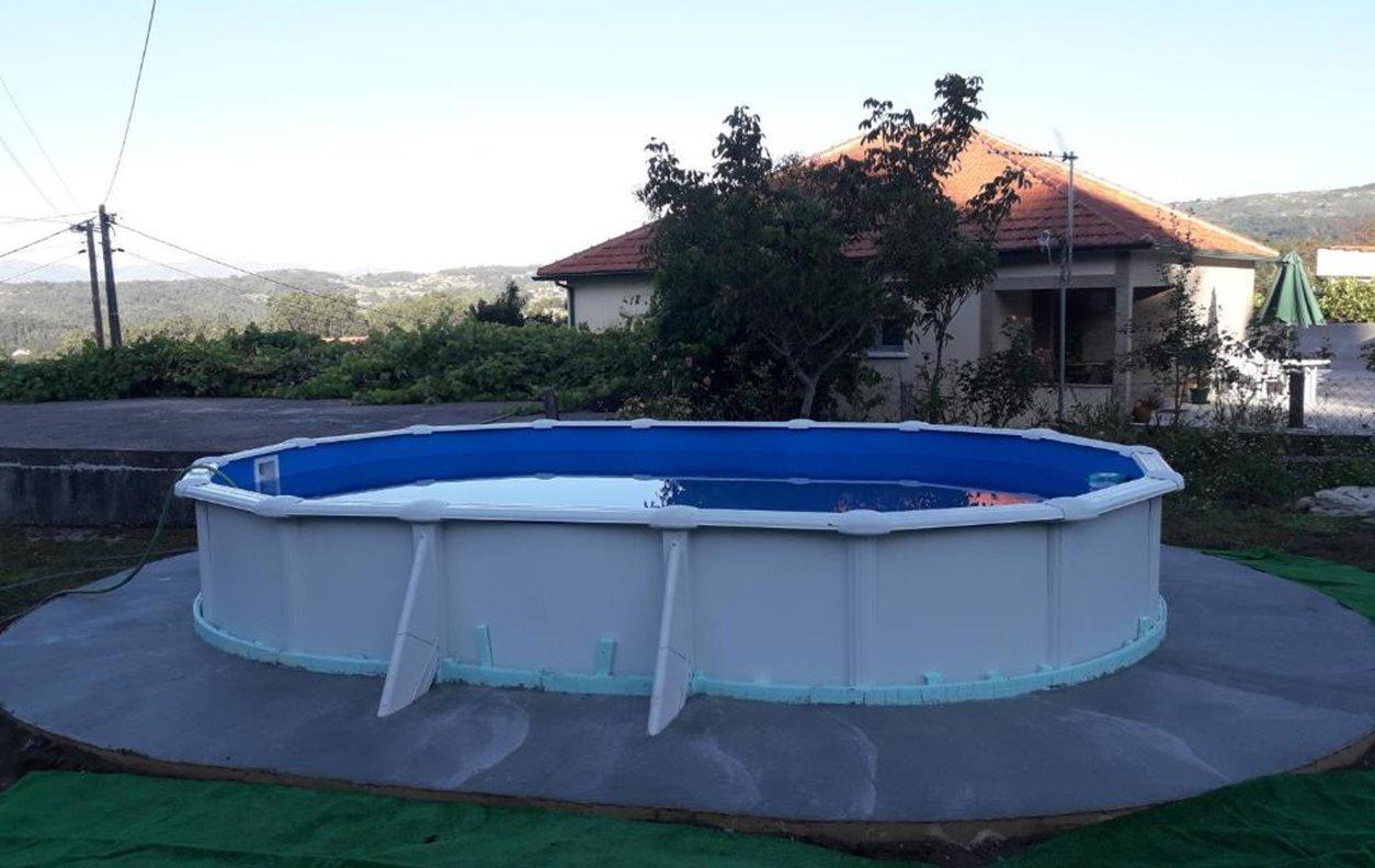 Casa de Férias com Piscina, Vista Montanha, A/C, BBQ e Wi-Fi - Próximo Praia Flúvial do Taboão - 1459